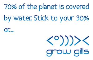 divewear slogan grow gills